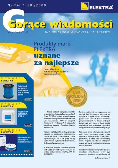 GORĄCE WIADOMOŚCI   1/2009 (19)